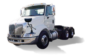 white commercial semi truck